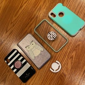 Four IPhone X Cases including 2 Kate Spade